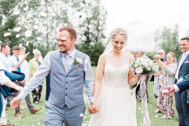 Confetti Throw Almonry Barn Wedding Kerry Bartlett Photography