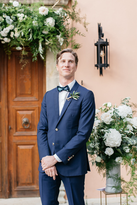 Groom Suit Blue Bow Tie Crete Wedding HannaMonika Wedding Photography