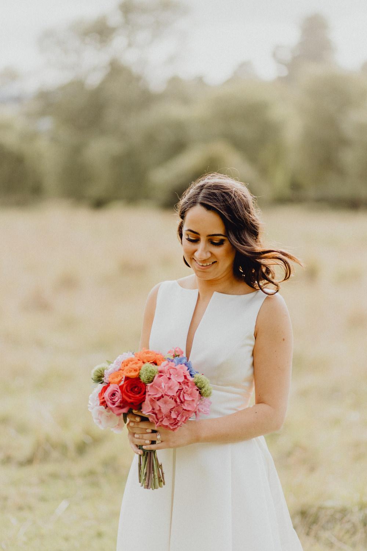 Bride Bridal Hair Make Up Intimate Pub Wedding Heather Sham Photography