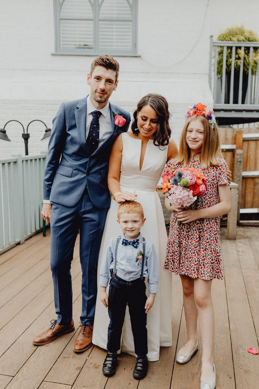 Page Boy Bow Tie Braces Flower Girl Intimate Pub Wedding Heather Sham Photography