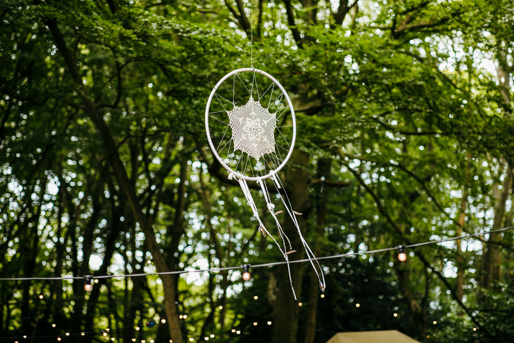 Dreamcatcher Decor Lila's Wood Wedding Two-D Photography