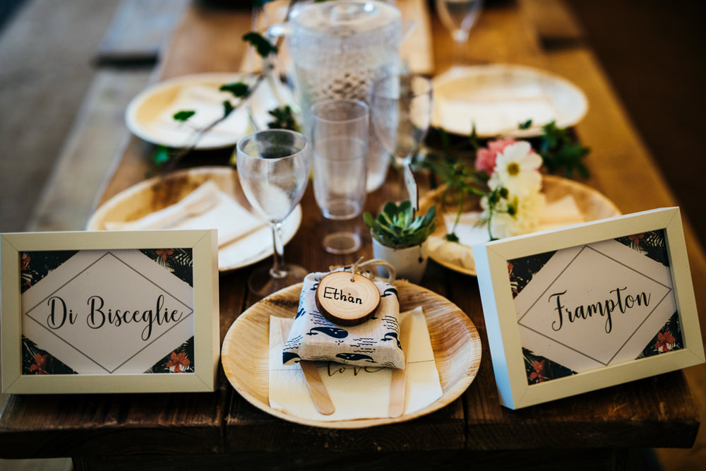 Table Names Lila's Wood Wedding Two-D Photography