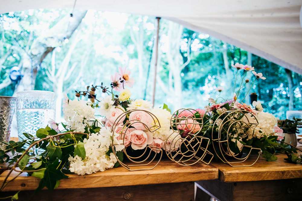Wire Letters Initials Decor Lila's Wood Wedding Two-D Photography