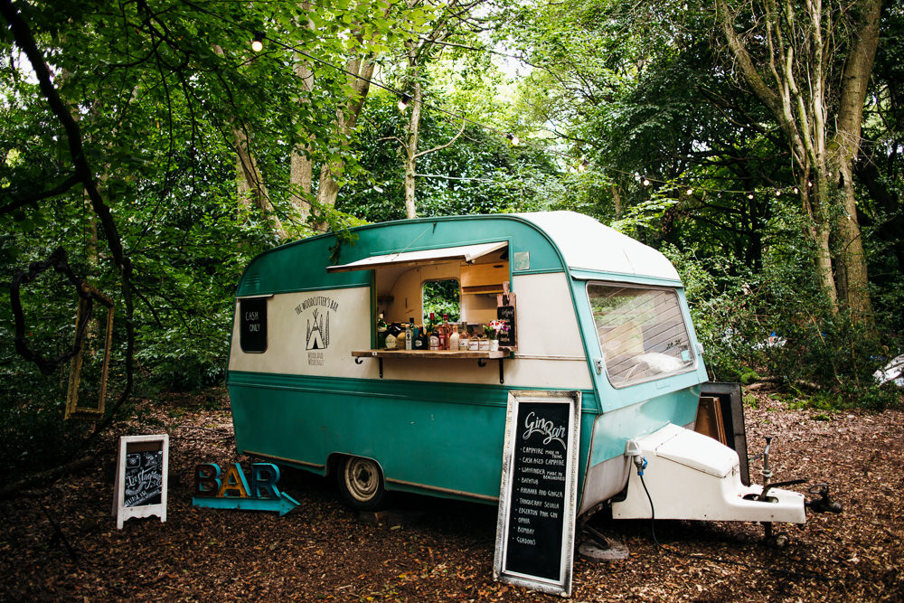 Food Truck Caravan Bar Lila's Wood Wedding Two-D Photography