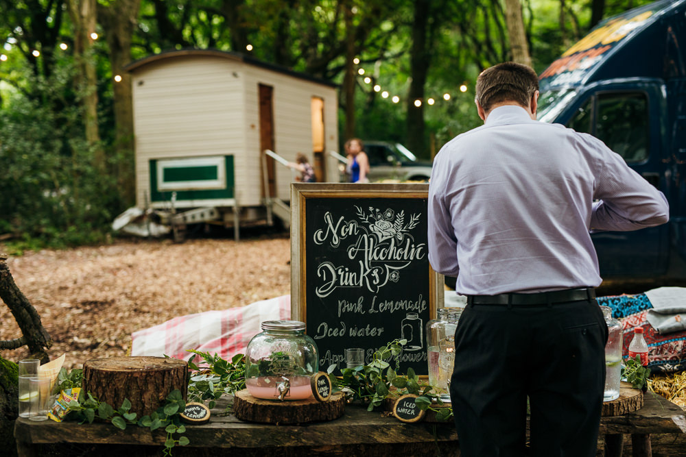 Soft Drinks Bar Station Lila's Wood Wedding Two-D Photography