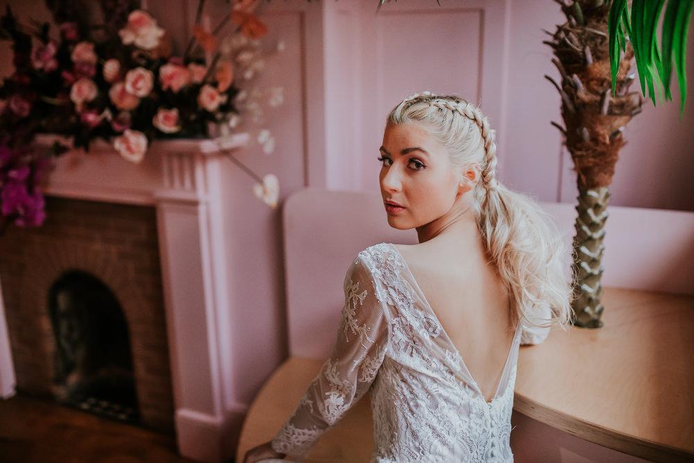 Bride Bridal Make Up Modern Pink Wedding Ideas Aurora Grey Photography