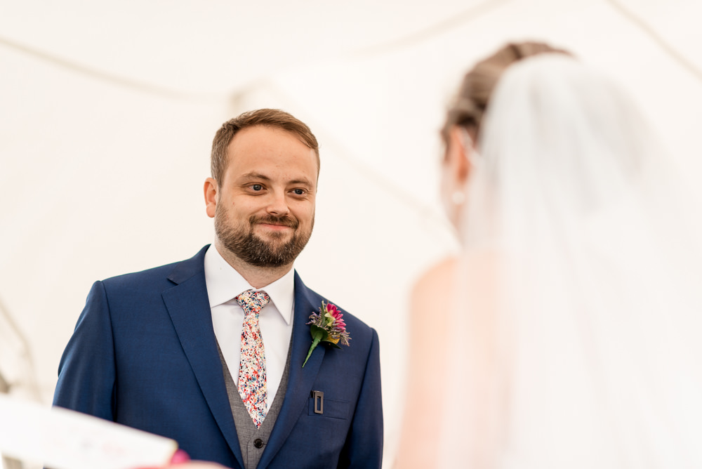 Groom Suit Blue Paint Splatter Tie Bonhams Barn Wedding Will Patrick Photography