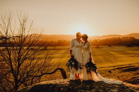 Comrie Croft Wedding Neil Thomas Douglas Dress Gown Bride Bridal Dip Hem