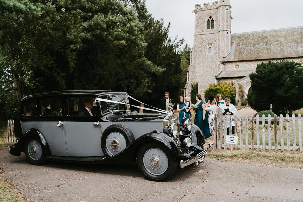 Classic Vintage Car Transport Country Festival Wedding Jonny Gouldstone Photography