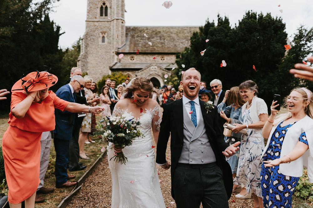 Confetti Throw Country Festival Wedding Jonny Gouldstone Photography