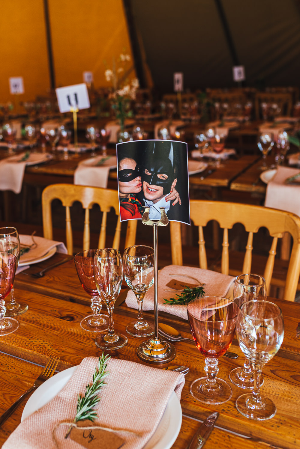 Table Number Festival Party Wedding Kirsty Mackenzie Photography