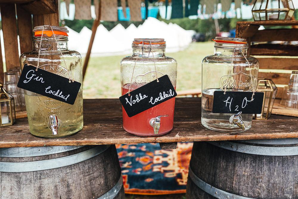 Bar Drinks Dispensers Festival Party Wedding Kirsty Mackenzie Photography
