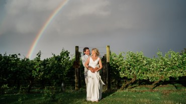 Rainbow Photo Great Lodge Wedding Gemma Giorgio Photography