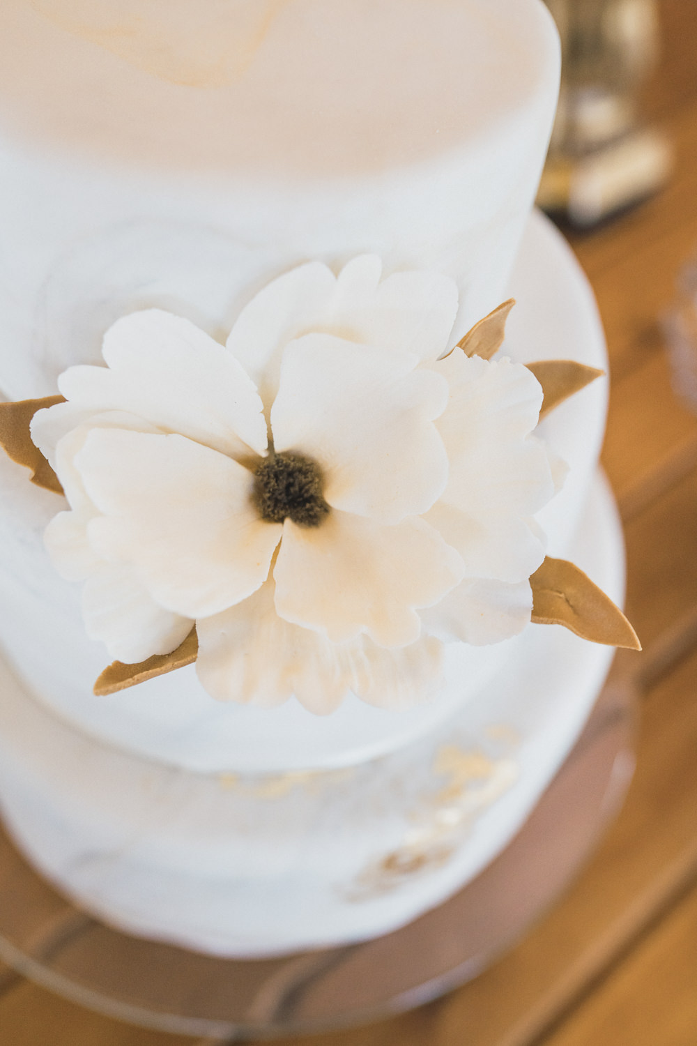 Flower Floral Cake Copper Modern Romantic Wedding Red Maple Photography