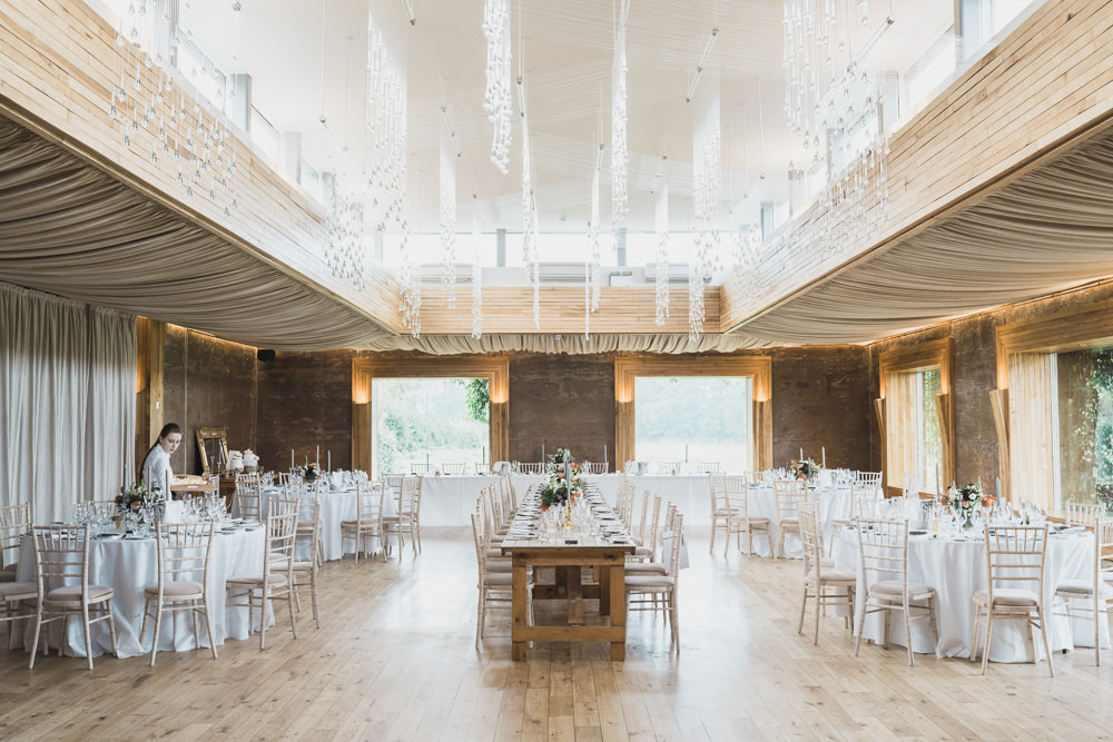 Elmore Court Reception Long Tables Decor Modern Romantic Wedding Red Maple Photography