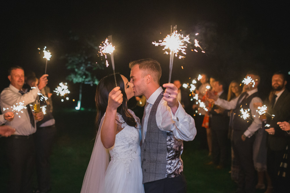 Sparklers Sparkler Exit Send Off Modern Romantic Wedding Red Maple Photography