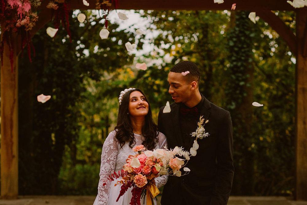 Outdoor Autumn Wedding Ruby Walker Photography