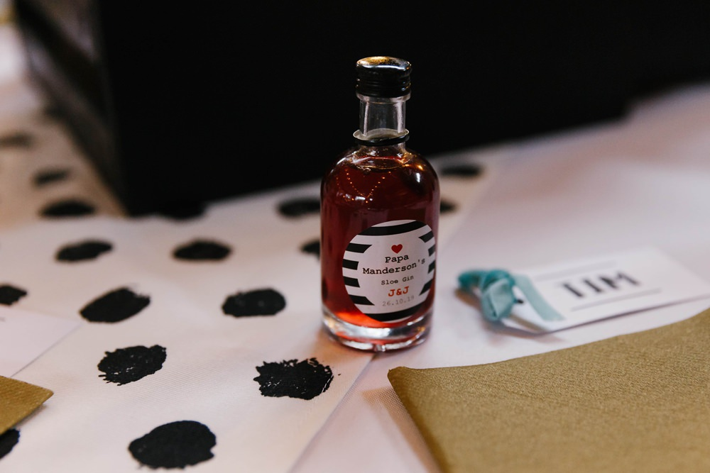 Bottle Favours Village Hall Wedding Emily + Katy Photography