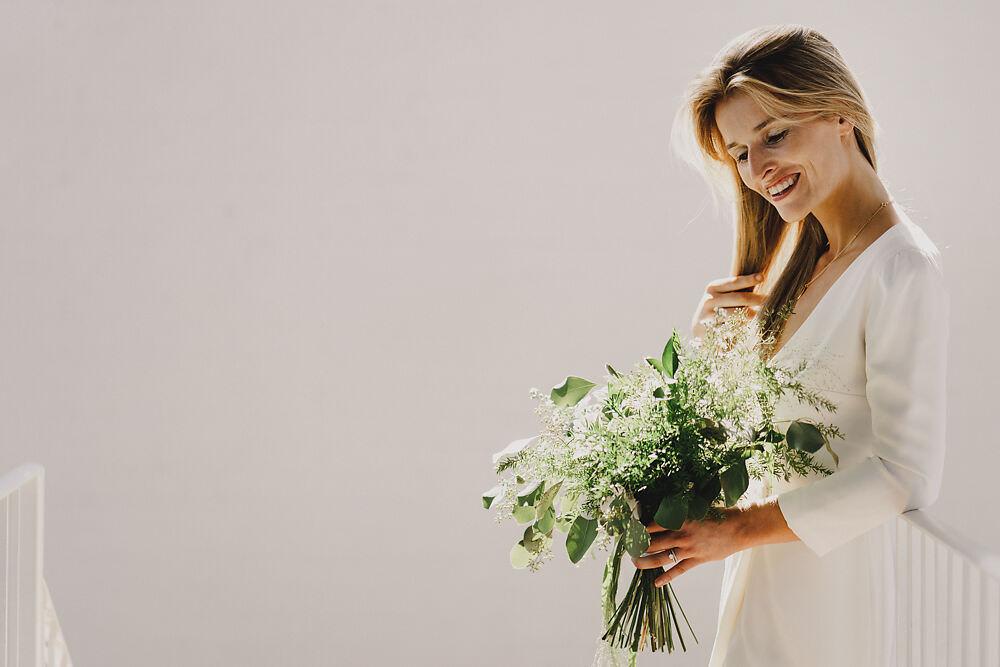 Bouquet Flowers Bride Bridal Greenery Winding House Wedding MIKI Studios