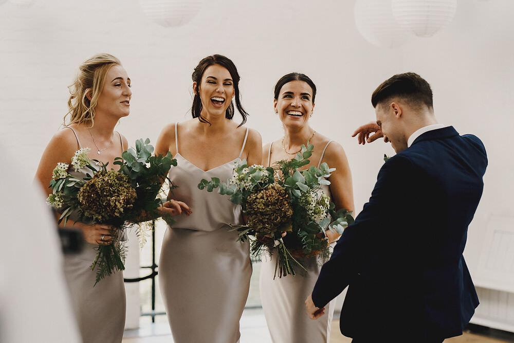Bridesmaids Silk Top Skirt Bridesman Winding House Wedding MIKI Studios