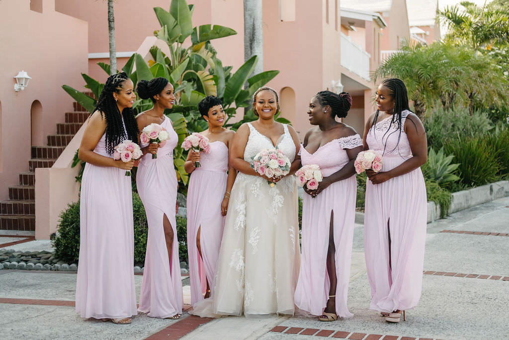 Bridesmaids Bridesmaid Dress Dresses Pink Bermuda Wedding Helen Abraham Photography