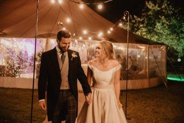Pole Tent Marquee Festoon Lights Family Farm Wedding Janine Kirkwood Photography