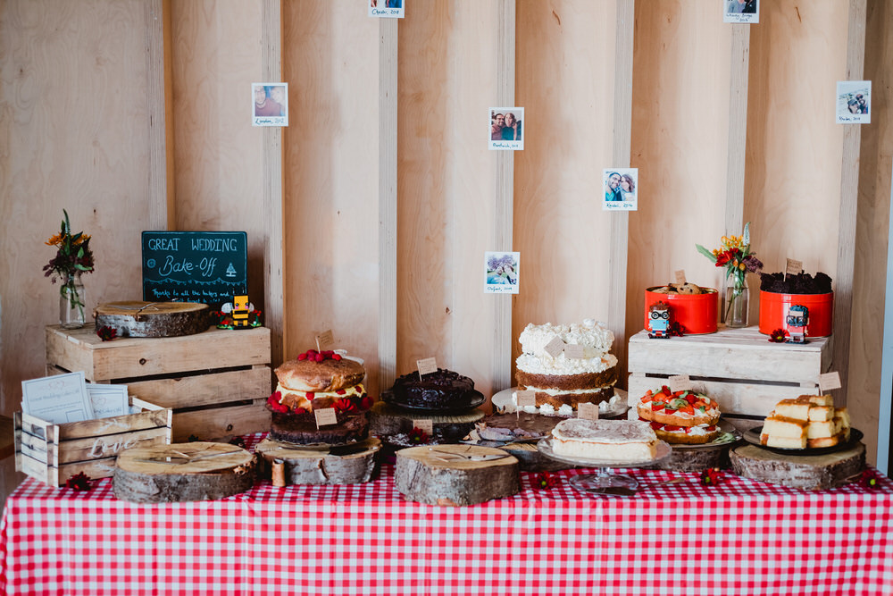 Cake Bake Off Dessert Table HOME Manchester Wedding Kate McCarthy Photography