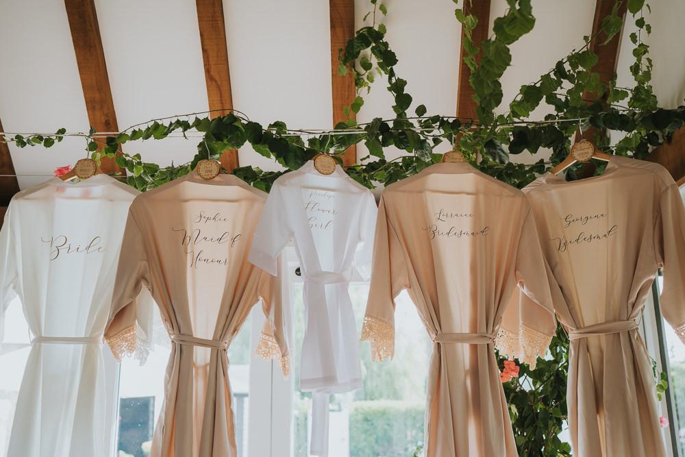 Dressing Gown Robe Bridal Bridesmaids High House Weddings Grace Elizabeth Photography