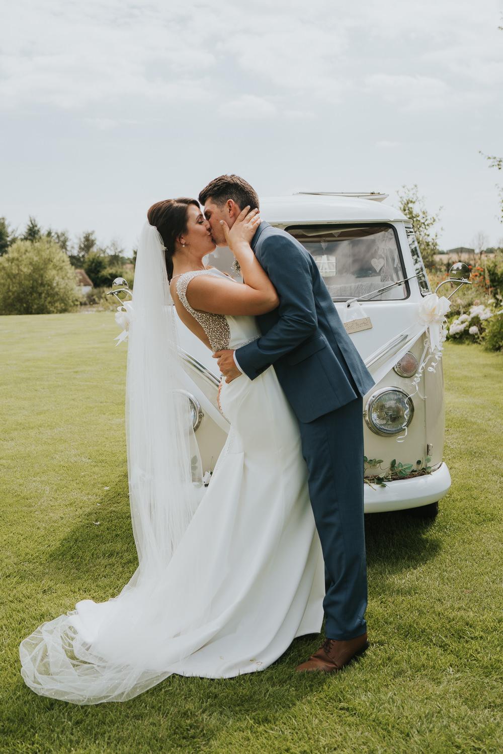 VW Campervan Transport High House Weddings Grace Elizabeth Photography