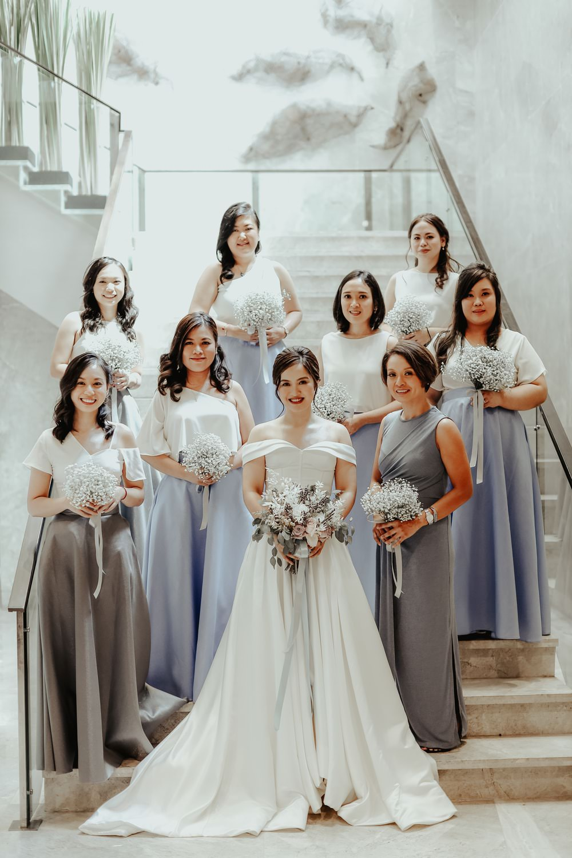 Bridesmaids Bridesmaid Dress Dresses Blue Gunmetal Skirts Philippines Wedding The Backyard Studios
