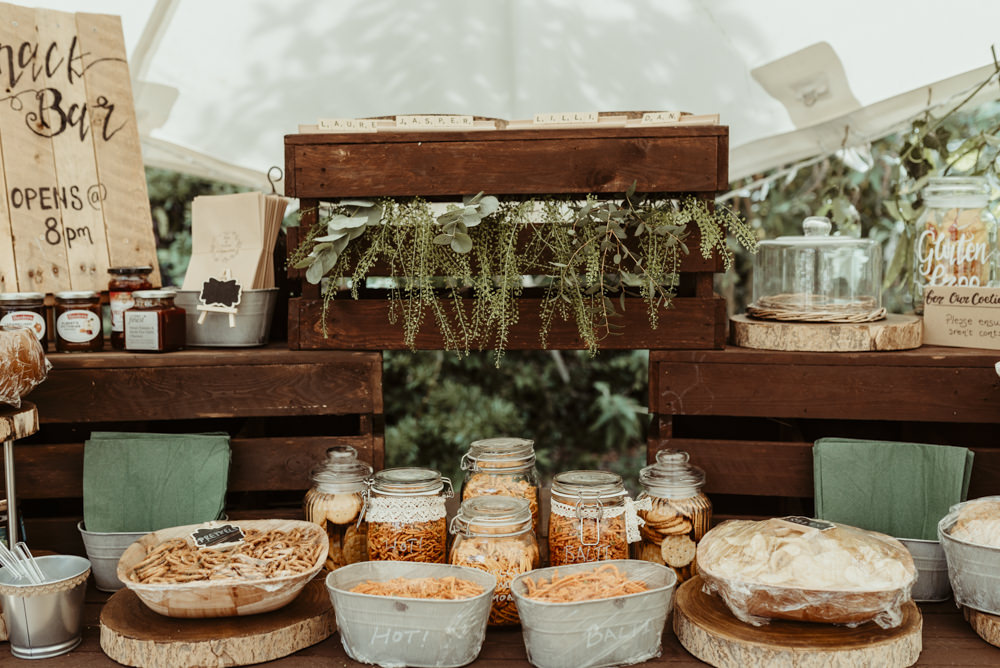 Snack Bar Stand Station Red Brick Barn Wedding Jess Soper Photography