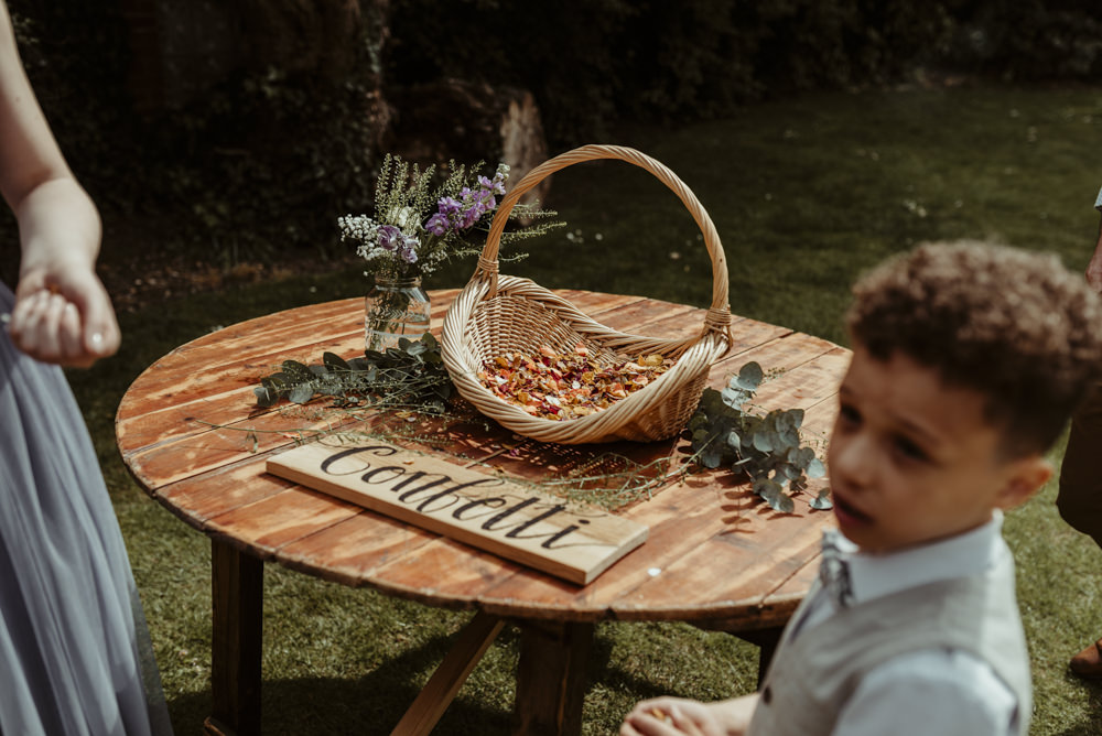 Confetti Petal Basket Red Brick Barn Wedding Jess Soper Photography