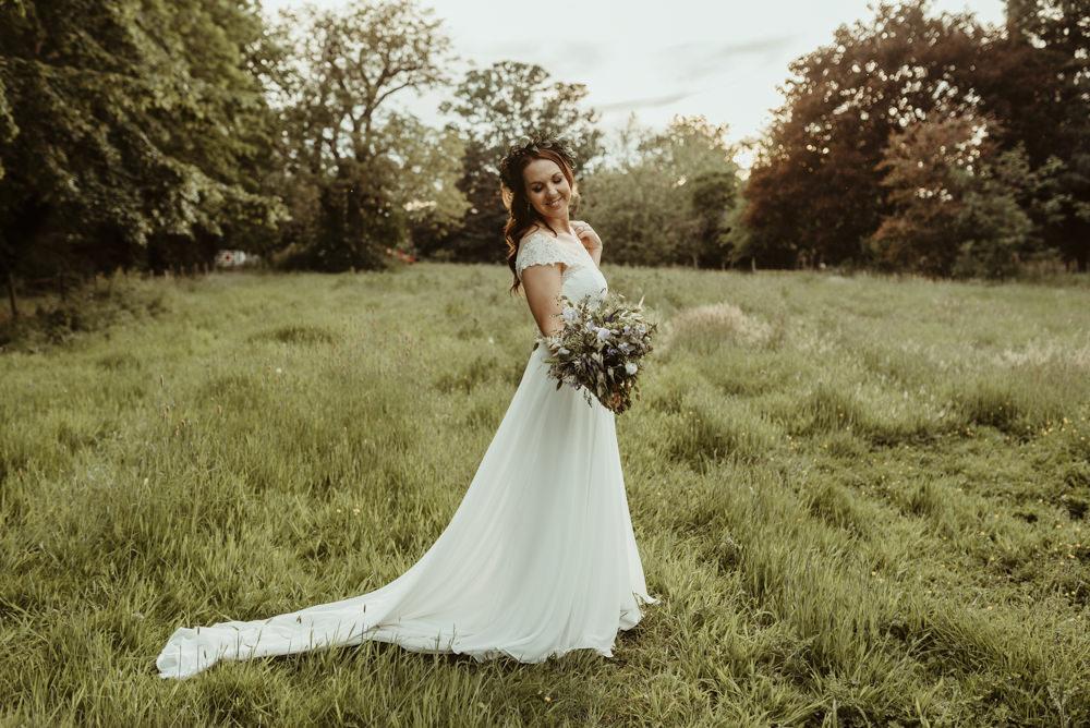 Bride Bridal Dress Gown Rebecca Ingram Maggie Sottero Lace Red Brick Barn Wedding Jess Soper Photography