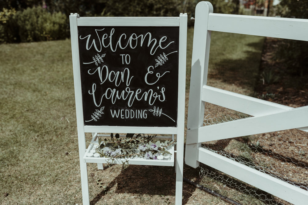 Welcome Sign Signs Signage Red Brick Barn Wedding Jess Soper Photography