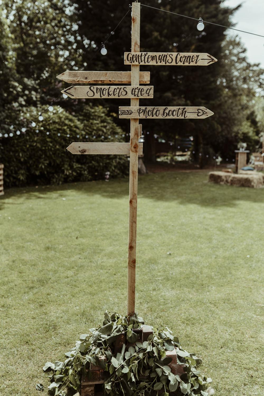 Sign Signs Signage Signpost Red Brick Barn Wedding Jess Soper Photography