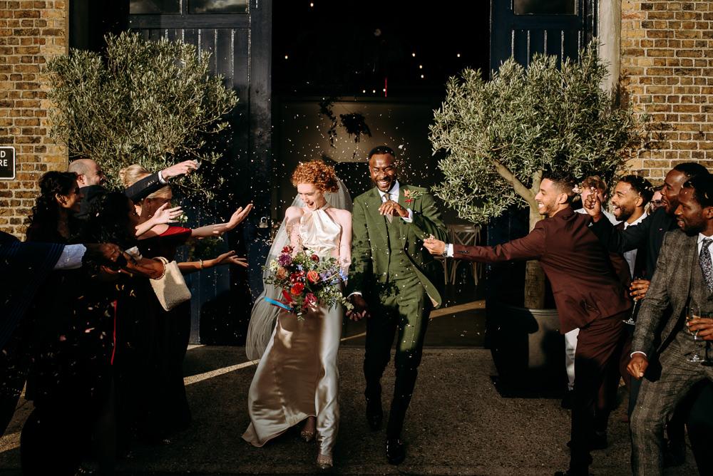 Confetti Throw British Nigerian Wedding Andrew Brannan Photography
