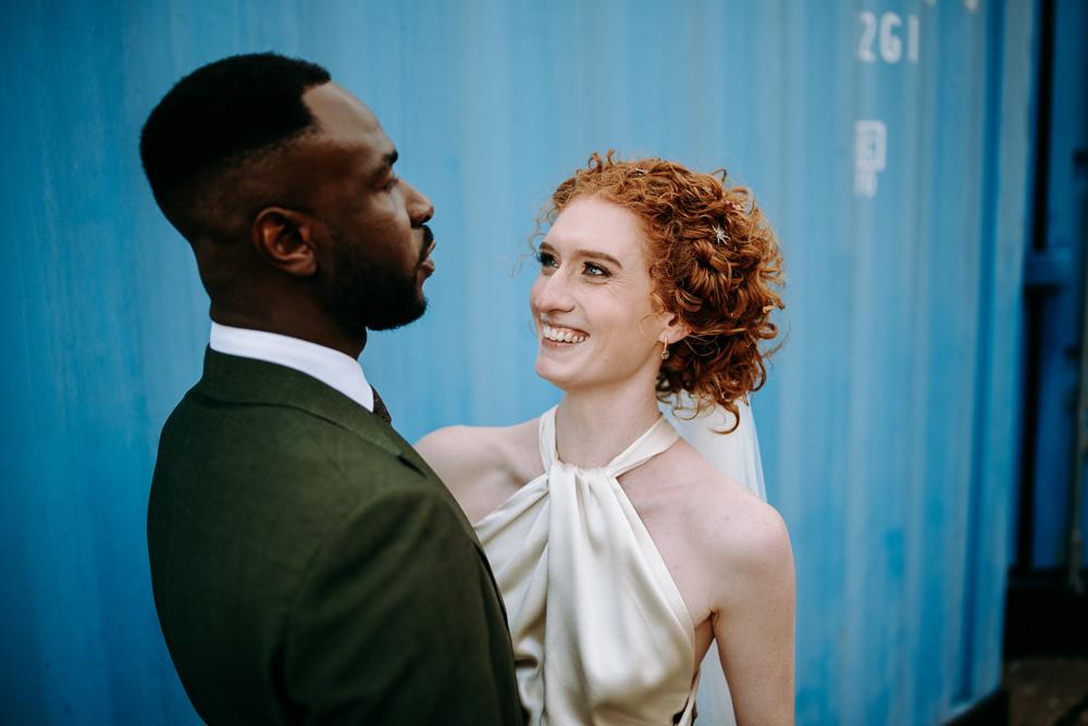 Bride Bridal Hair Make Up British Nigerian Wedding Andrew Brannan Photography
