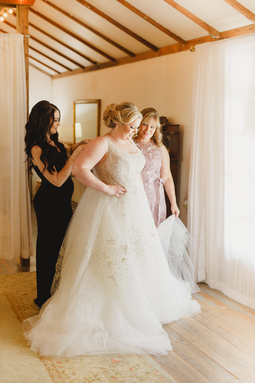 Dress Gown Bride Bridal Lazaro Perez Sequin Tulle Straps Enchanted Forest Wedding Kristen Booth Photography