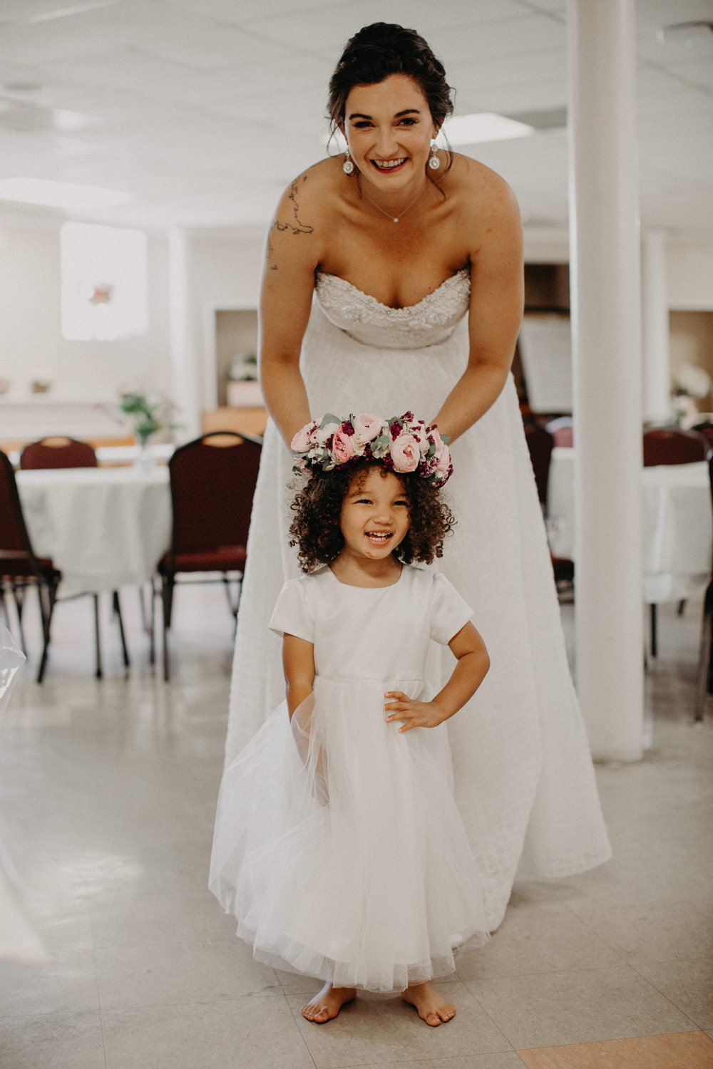 Flower Girl Flower Crown Georgia Wedding Aline Marin Photography