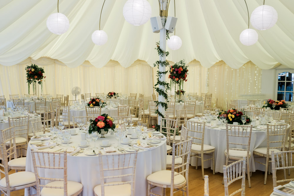 Marquee Lanterns Decor Glenarm Castle Wedding Jonathan Ryder Photography