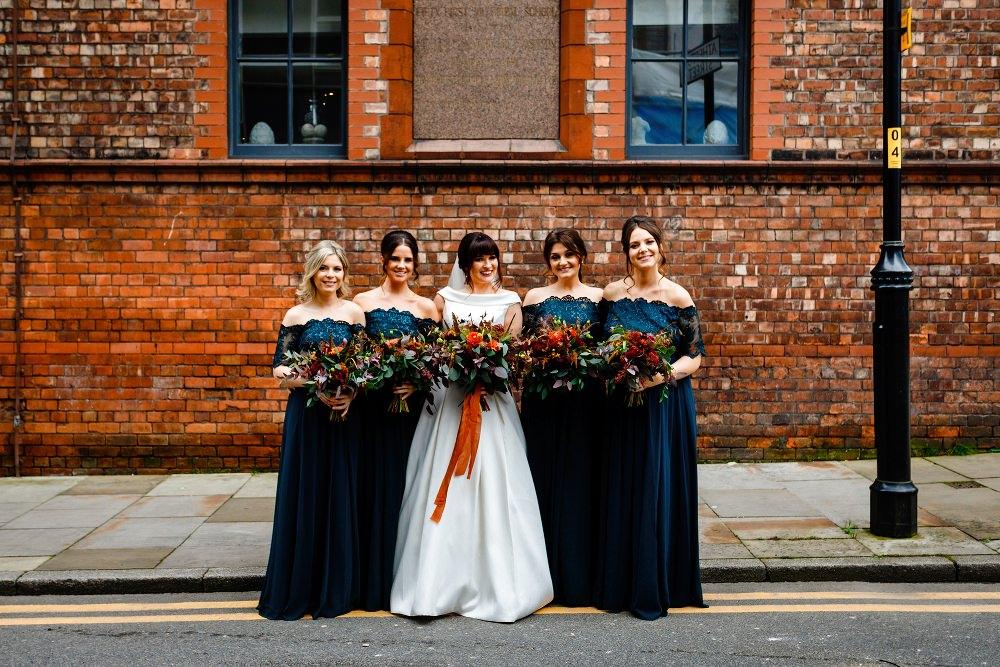 Bridesmaids Bridesmaid Dress Dresses Green Teal Maxi Great John Street Hotel Wedding About Today Photography