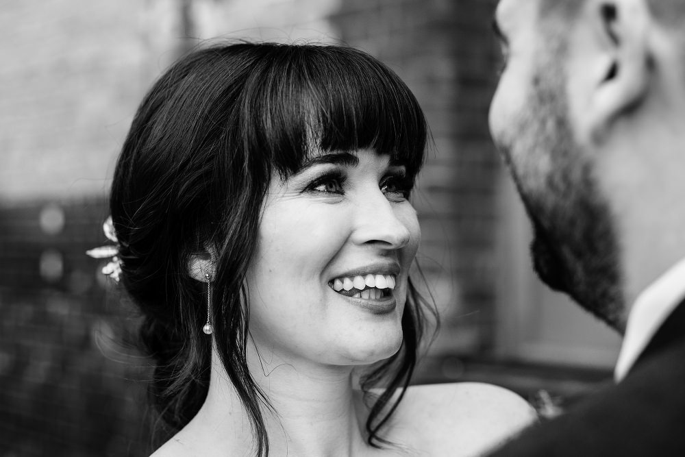 Bride Bridal Hair Style Up Do Fringe Bangs Great John Street Hotel Wedding About Today Photography