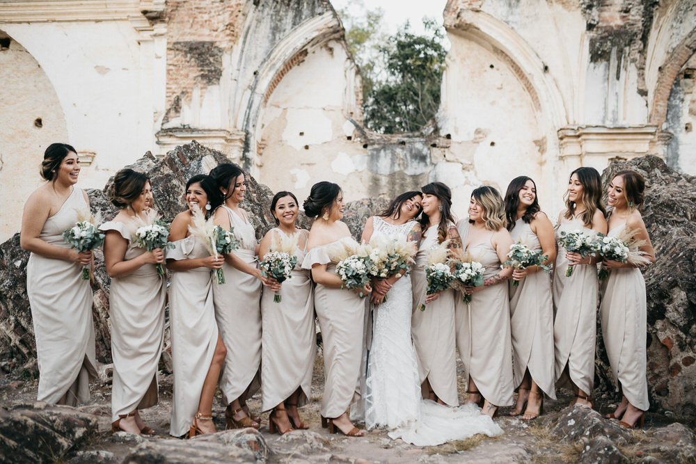 Bridesmaids Bridesmaid Dress Dresses Dip Hem Guatemala Wedding Daniel Lopez Perez Photography