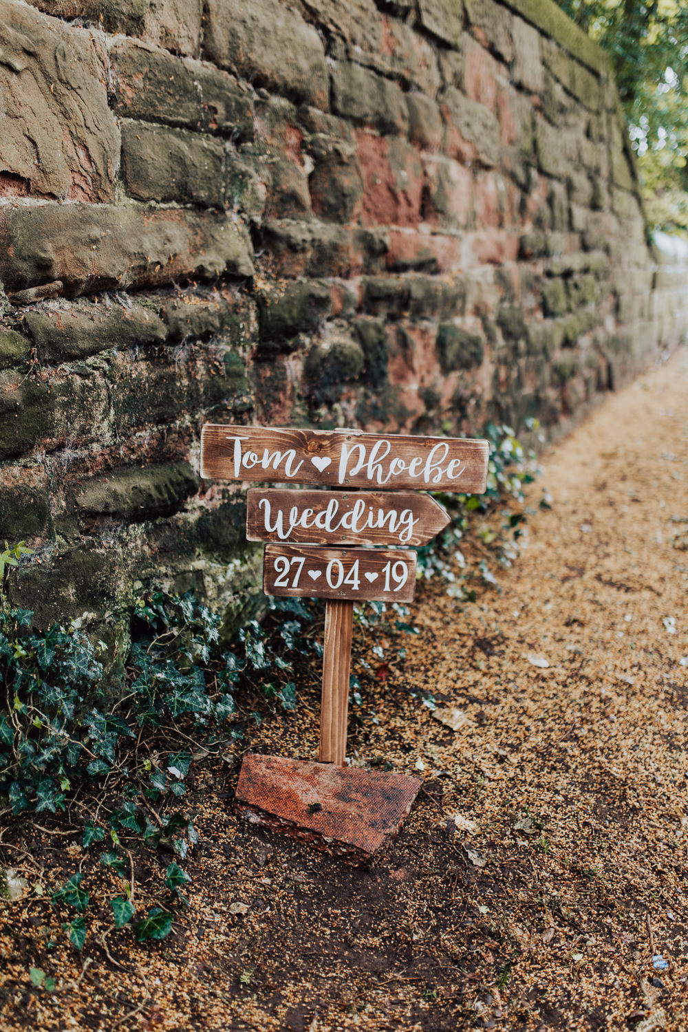 Wooden Sign Signs Signpost Homemade Wedding Wyldbee Photography