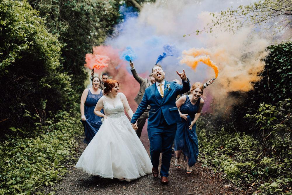 Smoke Bomb Photo Portraits Homemade Wedding Wyldbee Photography