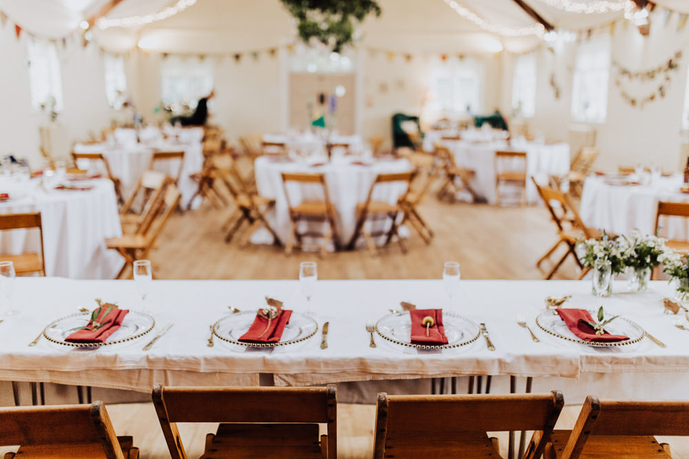 Top Table Decor Village Hall Homemade Wedding Wyldbee Photography