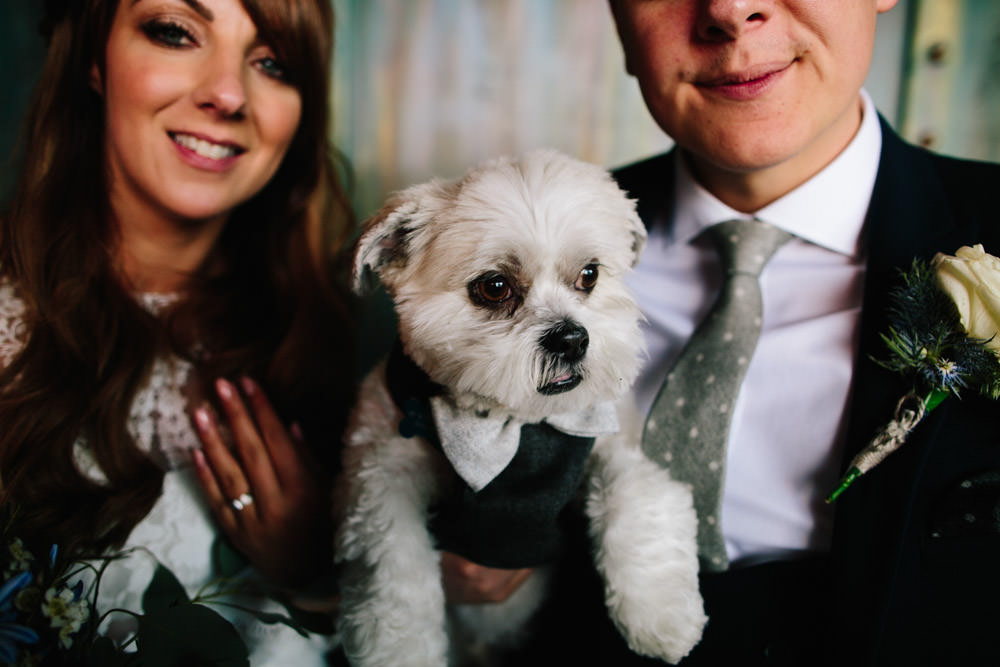 Dog Pet Indie Warehouse Wedding Dan Hough Photo