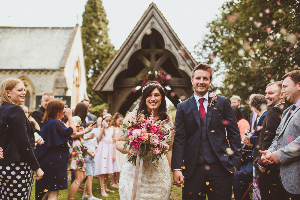 Confetti Throw Old Greens Barn Wedding Matt Penberthy Photography