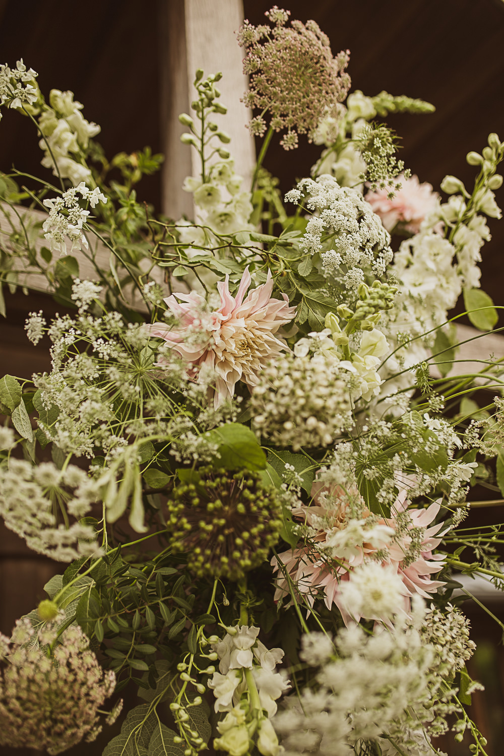 Flower Arrangement Greenery Foliage Blush Small Wedding Ideas The Springles