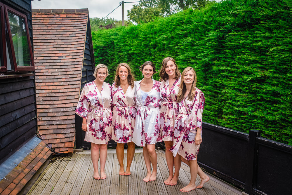 Bride Bridal Bridesmaids Dressing Gowns Robes Colville Hall Wedding GK Photography